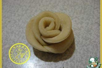 Рецепт: Украшение для изделий из теста Роза