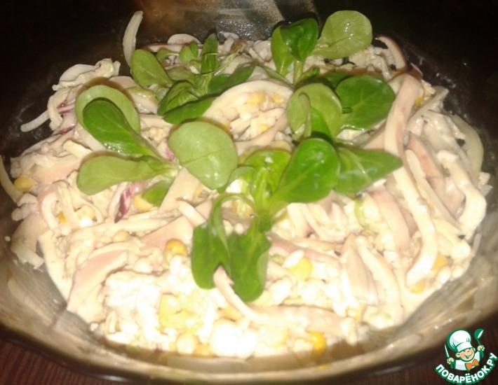 Рецепт: Салат Сочный кальмарчик