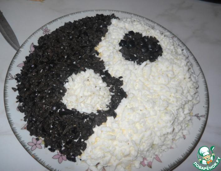 Рецепт: Салат Инь-Ян