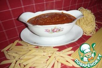 Рецепт: Томатный соус с фаршем