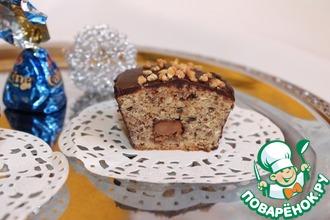 Рецепт: Шоколадно-ореховые мини-кухены с начинкой