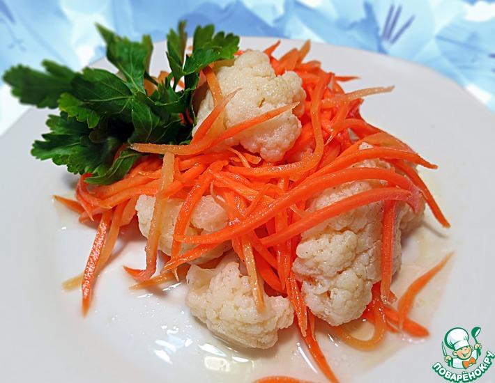 Рецепт: Маринованная цветная капуста по-корейски