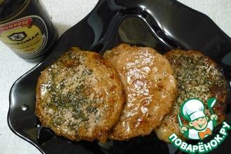 Рецепт: Свиная корейка, обжаренная в соусе