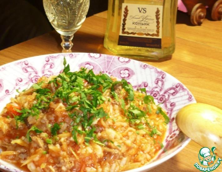 Рецепт: А-ля Бигос с рисом и фаршем