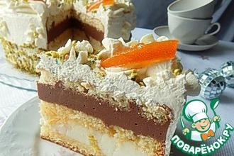 Рецепт: Бисквитный торт с апельсинами