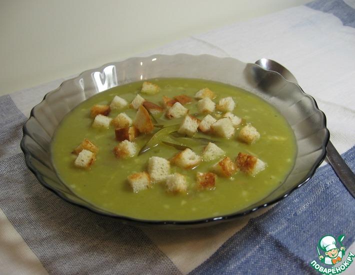 Рецепт: Суп гороховый с соленым огурцом