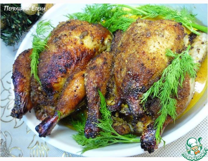 Рецепт: Фаршированные цыплята-корнишоны