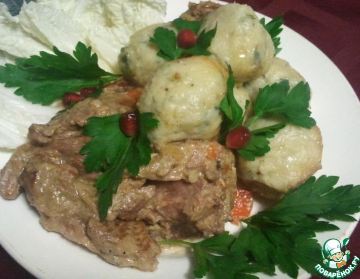 Рецепт: Нутрия с картофельными шариками