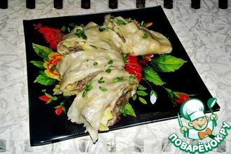 Рецепт: Мясной рулет (хунан, ханум)