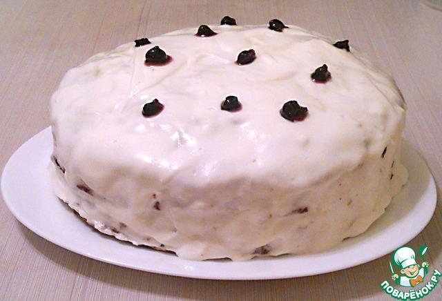 Я торт негр в пене смазываю мороженым