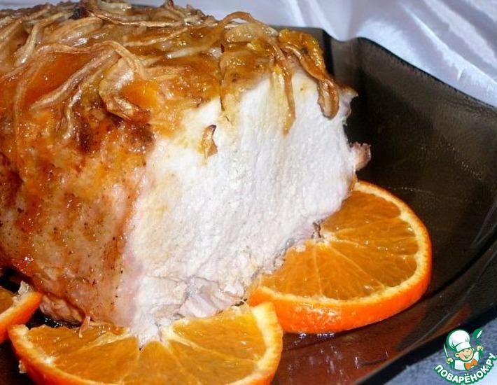 Рецепт: Свинина Ароматная под мандариновым соусом