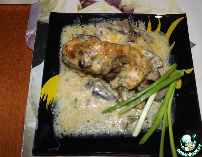 Рецепт: Гратен с грибами в легком соусе ру