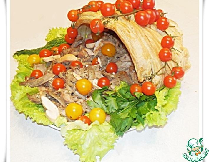 Рецепт: Мясная закуска Рог изобилия