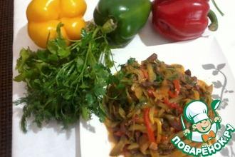 Рецепт: Салат Мясо по-пекински