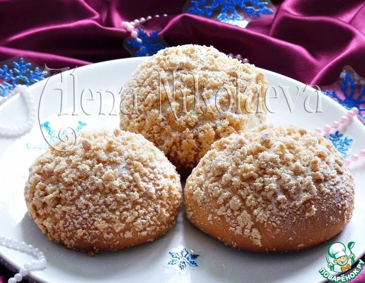 Рецепт: Хрустящие булочки Сугробы