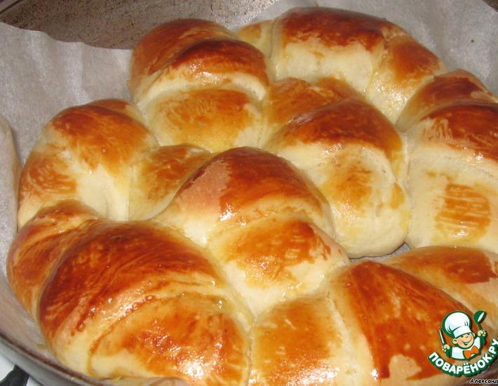Рецепт: Булка-пирог по мотивам Monkey Bread или Обезьяний хлеб