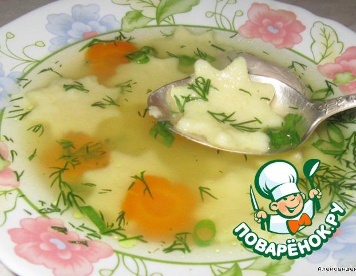 Рецепт: Суп с заварными манными клецками