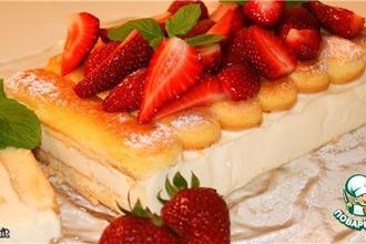 Рецепт: Панна-коттовый торт Чeрный лес