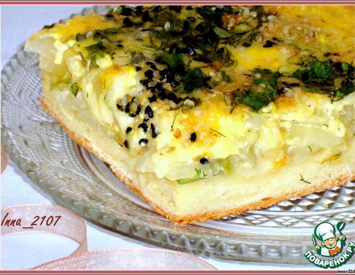 Рецепт: Пирог с луком и кабачком