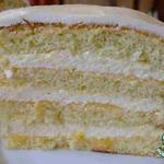 Торт с лимонным муссом и кердом
