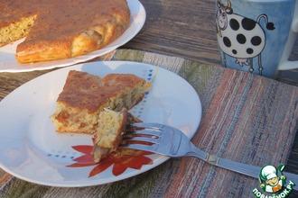 Рецепт: Сырный пирог с шампиньонами
