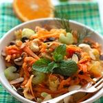 Пикантный морковный салат с апельсином