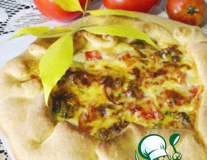 Рецепт: Пирог-суфле с помидорами