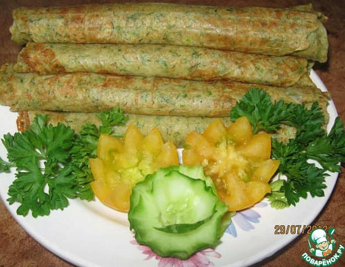 Рецепт: Картофельные трубочки