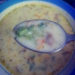Сливочно-сырный суп с брокколи