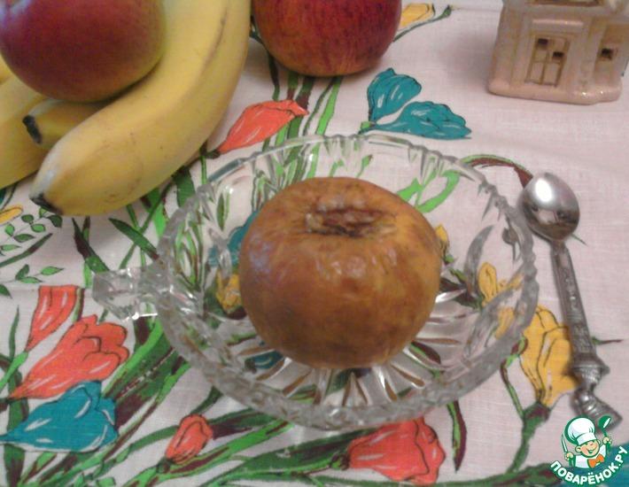 Рецепт: Запечённые яблоки с бананом