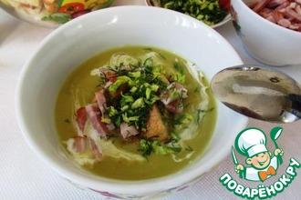 Рецепт: Лондонский суп из колотого зеленого гороха