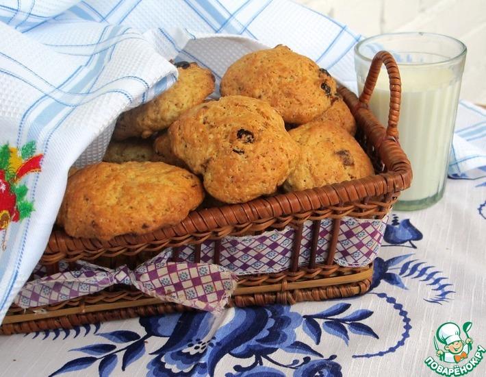 Рецепт: Постное овсяное печенье Здоровье