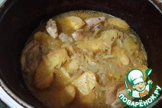 Рецепт: Куриные бедрышки с айвой