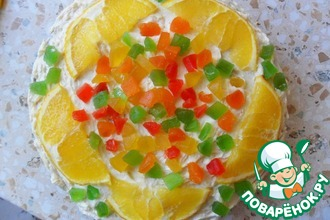 Рецепт: Торт бисквитный Цветок апельсина