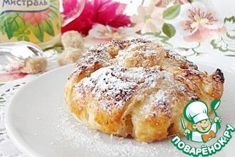 Рецепт: Яблочные слойки Хризантемы