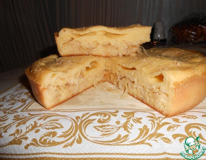 Рецепт: Заливной капустный пирог