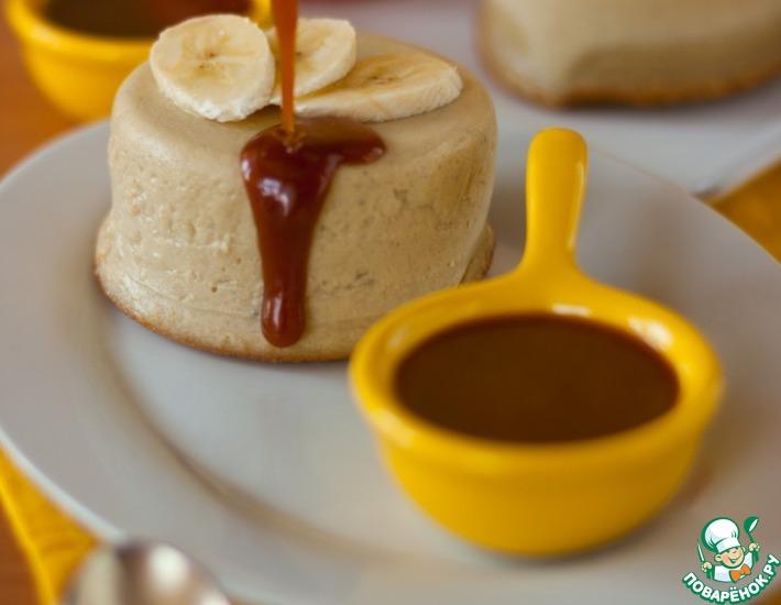 Рецепт: Банановый пудинг с карамельно-сливочным соусом