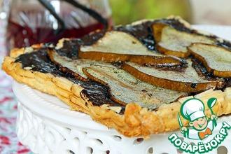 Рецепт: Шоколадно-грушевый тарт