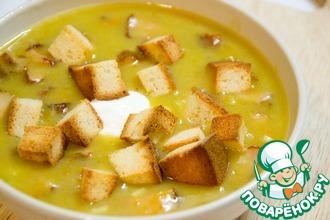 Рецепт: Гороховый суп-пюре с копченостями