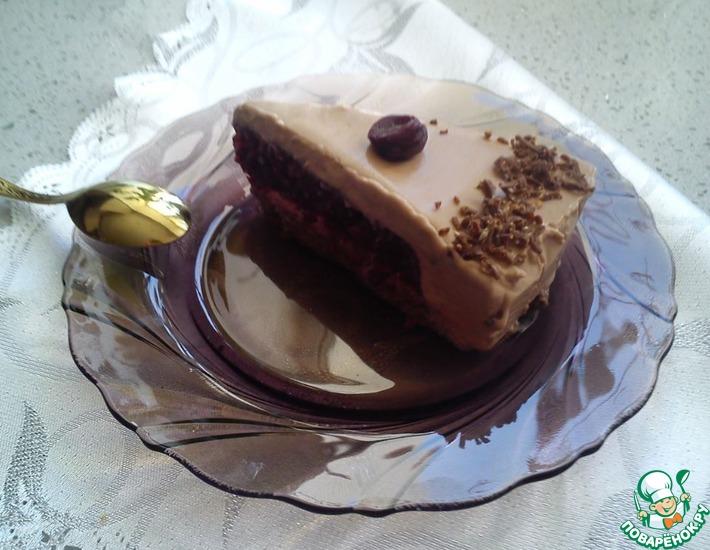 Рецепт: Торт-мороженое Вишня в шоколаде
