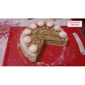 Фруктовый торт с меренгой и заварным кремом