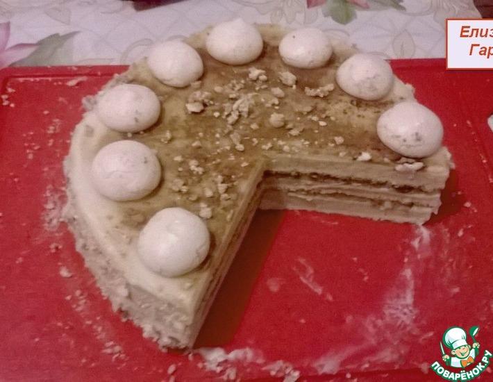 Рецепт: Фруктовый торт с меренгой и заварным кремом