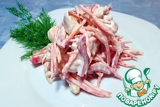 Рецепт: Салат с курицей, морковью и перцем