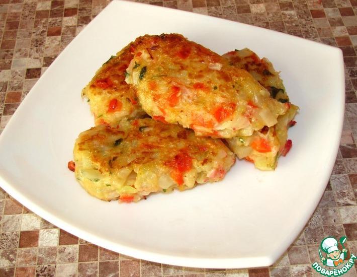Рецепт: Рубленые овощные котлеты