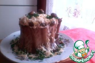 Рецепт: Лесной пенек из свиных ребрышек