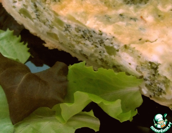 Рецепт: Пирог с творогом и брокколи