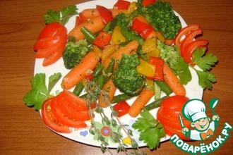 Рецепт: Яркий овощной гарнир