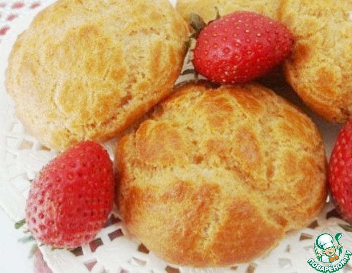 Рецепт: Заварные пирожные на овсяной муке