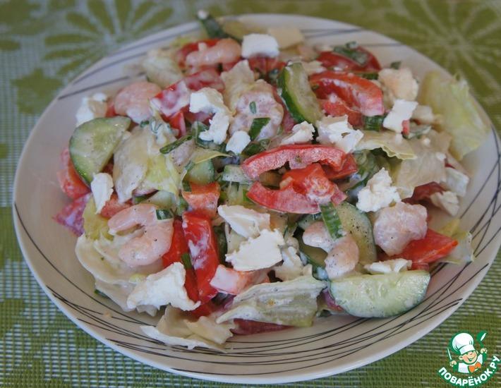 Рецепт: Салат из свежих овощей Предчувствие