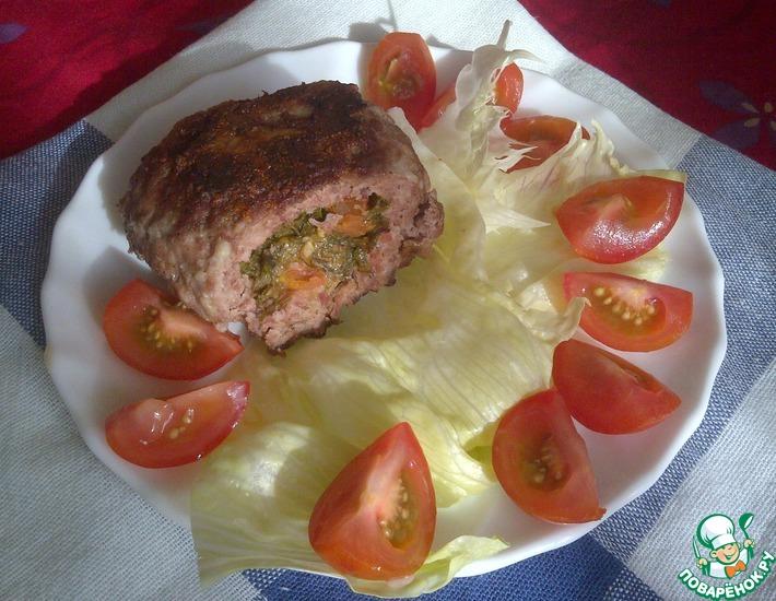 Рецепт: Зразы с помидорами, сыром и укропом